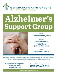 Alzheimer's support group generations at neighbors